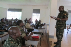 lt col george mukanda wsacco deputy manager sensitizing members in lugazi 2014