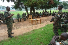 lt col tahunga former wsacco vice chairman answering questions from a member in bundibugyo during mobilisation and sensitisation exercise 2013