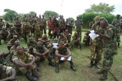 wsacco members in bundibugyo consulting maj e mutamwebwa during mobilisation  kasese 2013
