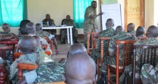 capt ronald kagina board member central educating members in jinja during sensitisation exercise 2014